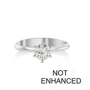 DIAMOND ENGAGEMENT RING .75 CARAT ROUND CUT DVS2 14K WHITE GOLD SOLITAIRE