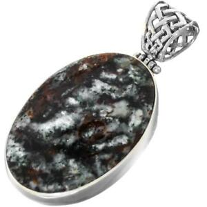 2 18 GENUINE GOLD FLASHING ASTROPHYLLITE 925 STERLING SILVER pendant