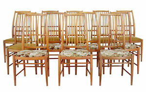 SET OF 12 NAPOLI DINING CHAIRS BY DAVID ROSEN FOR NORDISKA KOMPANIET