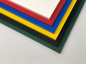 """Color Coded Plastic HDPE Cutting Board 1 2"""" .500"""" Thick You Pick The Size"""