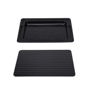 Rapid Defrosting Meat Tray FDA Approved Large Miracle Aluminium Thawing Plate