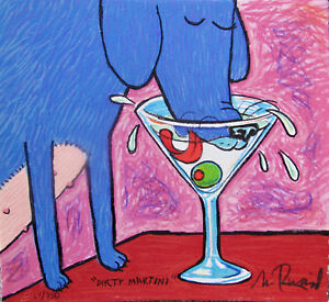 MATT RINARD quot;DIRTY MARTINIquot; Hand Signed Limited Edition Art Lithograph $64.99