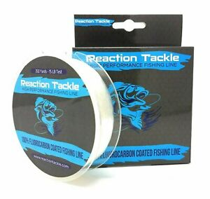 Reaction Tackle Fluorocarbon Coated Fishing Line 350 Yards High Strength