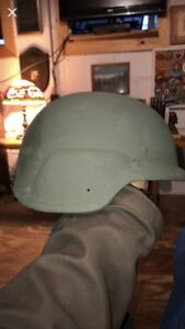 MSA MICH MADE W KEVLAR ACH TACTICAL COMBAT HELMET LARGE 8470-01-506-6375 Green