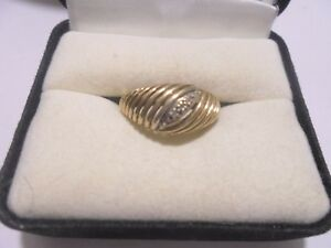 10kt. Yellow Gold Diamond Ring Size: 6