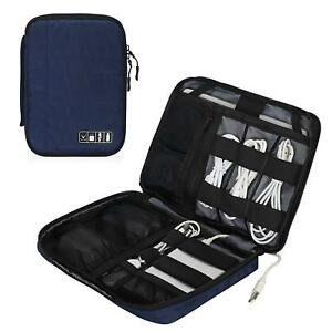 Hynes Eagle Travel Cable Organizer Tablet Case Cord Storage Bag Eletronics Pouch $15.29