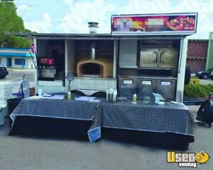 2016 - 8.5' x 20' Wood-Fired Oven Pizza Concession Trailer for Sale in Florida!