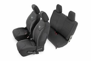 Rough Country Neoprene Seat Cover Black fits 2011-2012 Jeep Wrangler JK 2DR Set