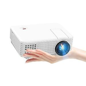 TENKER Mini Projector 80 ANSI 2019 Video Projector with 170-inch Display Su...