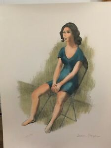 """Issac Soyer – """"Girl Seated"""" Lithograph – A. P. $175.00"""