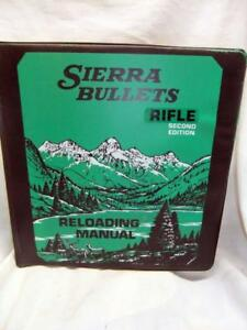 Sierra Bullets Rifle  Reloading Manual  Second Edition Ring Binder 1985