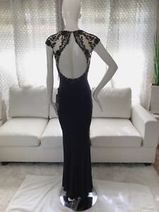 Fabuluxe Couture Dress Long Black Wedding Cocktail S