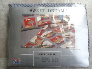 Sweet Dreams Americana 3pc Twin Sheet Set (NEW) - Made in Spain