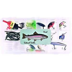 Spinners & Spinnerbaits Tailored Tackle Trout Fishing Kit 98 Pcs. Gear Set Lures