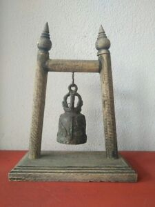 Vintage Thai Bell Buddha Temple Elephant Hanging Home Decor Collectible Gift #6