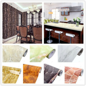 3D Marble Texture Wallpapers Renovation Stickers Self-adhesive Contact Papers