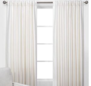 New Set Of 2  Z GALLERIE Vienna Panels Curtains Champagne Ivory 54