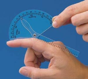 New Finger Goniometer Measure Flexion Hyper extension Clear Plastic US Shipping $7.99