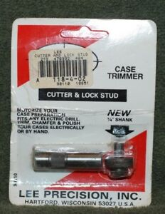 Lee Precision Case Trimmer Cutter Head and Locking Stud Steel 90110