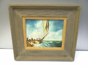 Original Signed Don Wingdow Seascape Ship Sailboat Oceanscape Oil Painting Art $125.99