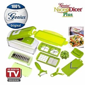 Nicer Dicer Plus by Genius 13 pieces  Fruit vegetable slicer Food-Chopper PRO