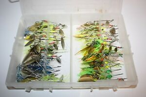 30 ct Spinnerbait Fishing Lures W Falcon FTO 700 Tackle Organizer  - SB51