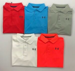 Boy's Youth Under Armour Heat Gear Loose Fit Polo Shirt