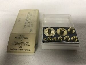 Vintage Ohaus Fractional Weights In Box