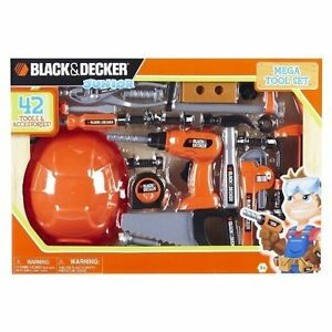 Construction Tool Set for Kids Black and Decker Made in US 42 tools Accessories