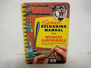 Vintage 1960 SPEER No. 4 Reloading Manual for Wildcat Cartridges-Rare Copy!!!