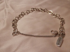 JAMES AVERY STERLING SILVER FORGED LINK CHARM BRACELET