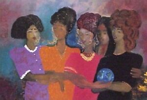 African American Black Art Print quot;WOMEN LOOKING AHEADquot; by Lee White