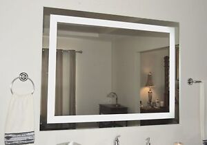 Front-Lighted LED Bathroom Vanity Mirror: 56