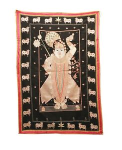 Vintage Wall Hanging Mochitaka Thread Work Pichwai Handmade US353WH