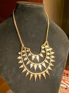 LANDRY Gorgeous Gold Tone Statement Bib Necklace-$48NWT!