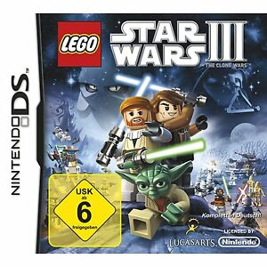 Nintendo Ds Lego Star Wars 3 the Clone Action Adventure Humorous 20 Missionen