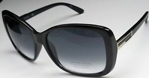 Calvin Klein R678S 001 Women's Black Frame Grey Lens Designer Sunglasses NEW