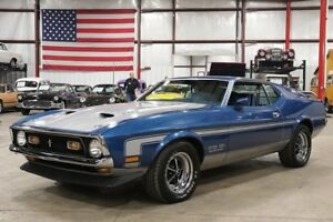 1971 Ford Mustang -- 1971 Ford Mustang  40922 Miles Bright Blue Metallic Coupe 351cid V8 4-Speed Manu