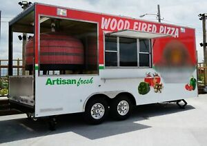 2017 - 8.6' x 20' Wood Fired Pizza Concession Trailer for Sale in Missouri!!!