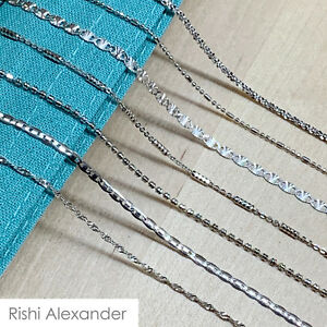 Real SILVER Unique Jewelry SOLID 925 Sterling Silver Chain Necklace Made Italy $11.49
