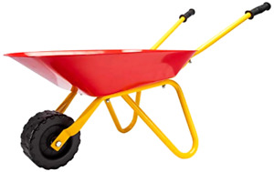 Wheelbarrow Ride On Toy Construction Toys For Kids Toddlers Workers Metal Frames