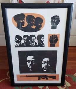 Homage to The Panthers by Elizabeth Catlett color lithograph