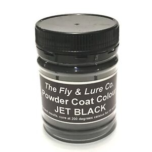 Powder Coat Paint Jet Black For Spinnerbaits Jig Heads Fishing Lures