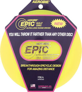 Aerobie Frisbee Epic Golf Disc 6oz Throw Panel Extreme Wide Shot
