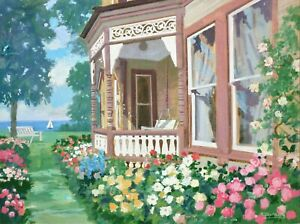 Lakeside Victorian (Benecke Oil Painting)