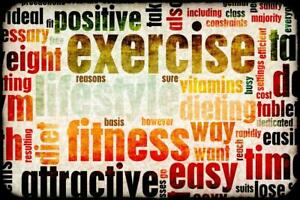 Exercise and Fitness Motivational Art Print Poster 24x36 inch