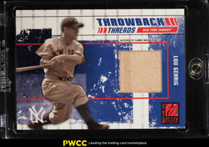 2003 Donruss Elite Throwback Threads Lou Gehrig GAME-WORN PATCH 100 #79 (PWCC)