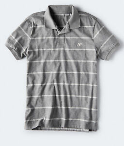 aeropostale mens thin stripe jersey polo