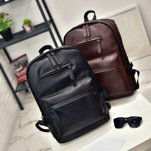 Men large capacity PU leather backpack
