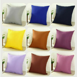 Pillowcase Party Candy Color Throw Pillow Cover Cushion Case Size 16